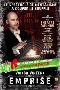 viktor vincent au théâtre Daunou - Emprise