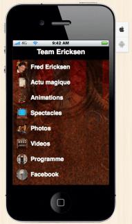 application mobile fred ericksen