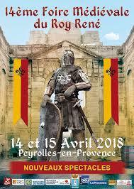 affiche fete medievale peyrolles • Fêtes médiévales Mars - Avril 2018 • Fred Ericksen • Magicien Lyon • Conférencier mentaliste