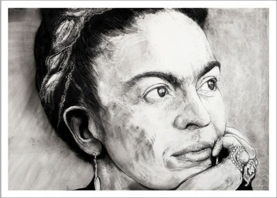 Frida Khalo, 2021, impression encre pigmentaire, 50x70 cm, Fred Kleinberg, art édition.