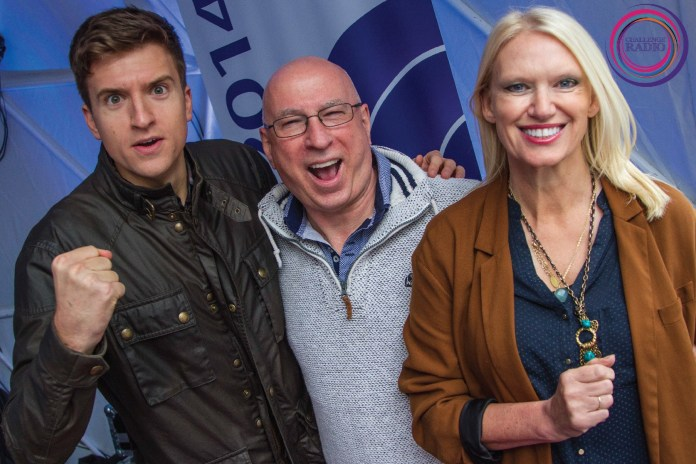 Greg James, Ken Bruce and Anneka Rice