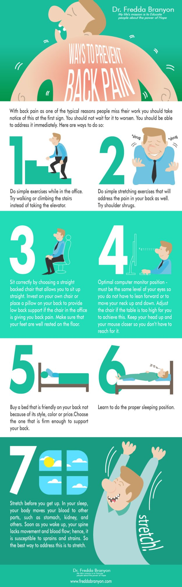 fredda branyon - ways to prevent backpain