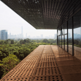 Shenzhen, Honey Park with a treetop bridge