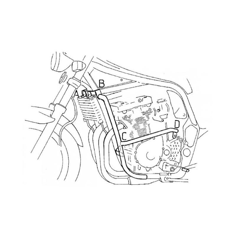 Pare carters Hepco-Becker Suzuki GSF 1200 S/N 1996-2000