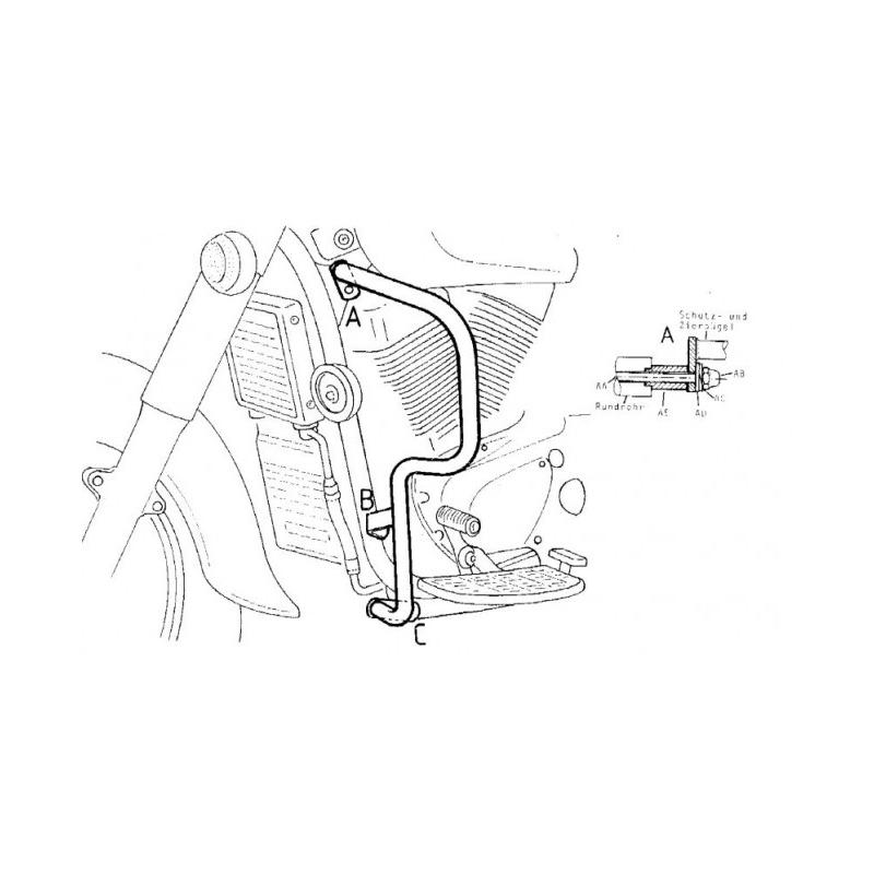 Pare carters Hepco-Becker Suzuki C / VL 1500 Intruder