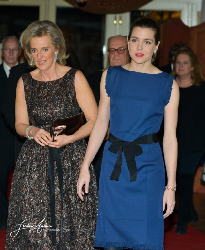 Princess Charlotte Casiraghi receive Princess Astrid of Belgium during the dinner gala from the FXB International association. Brussels, 30 januari 2016, Belgium (accepted from Muftie Aplin and M. Toucas for the agreement of Ch. Casiraghi)