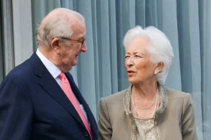 Queen Paola and King Albert pose during the party on the occasion of the 80th birthday of Queen Paola, Thursday 29 June 2017 in Waterloo. F. Andrieu/AgencePeps/Reporters