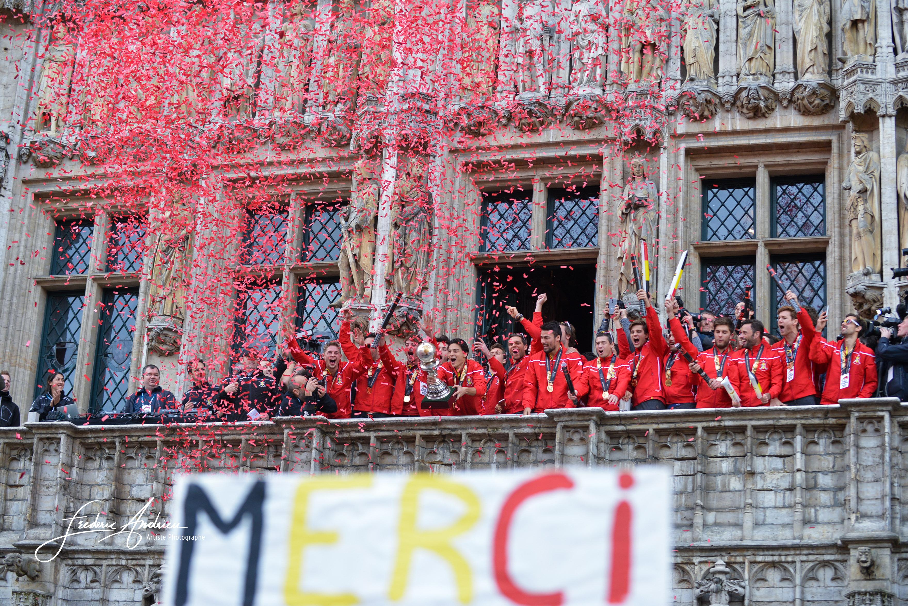 Les Red Lions sont de retour en Belgique après avoir remporté la Coupe du monde de hockey en Inde