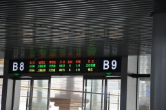 Gate display for boarding trains