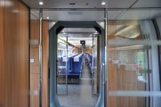 View inside high speed train