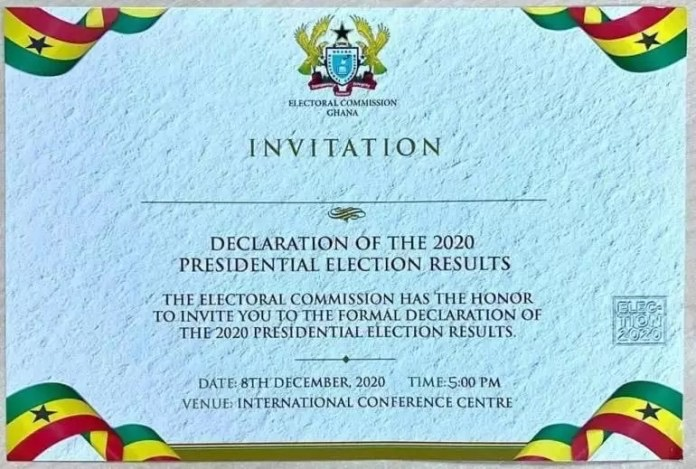 electoral commission set to declare, Election2020: Electoral Commission set to declare presidential results today, Frederick Nuetei