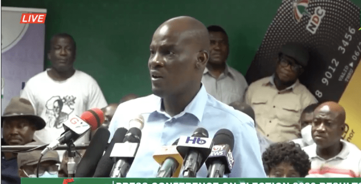 presidential results, BREAKING: The NDC rejects presidential results, Frederick Nuetei