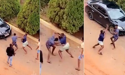 , 2 KNUST boys allegedly fight over a level 100 student (video), Frederick Nuetei