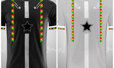 , A talented Ghanaian graphic designer makes Black Stars Jersey ahead of AFCON, Frederick Nuetei