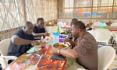 , Photos of Micheal Essien and Stephen Appiah eating TZ at 'chop bar' causes stir, Frederick Nuetei