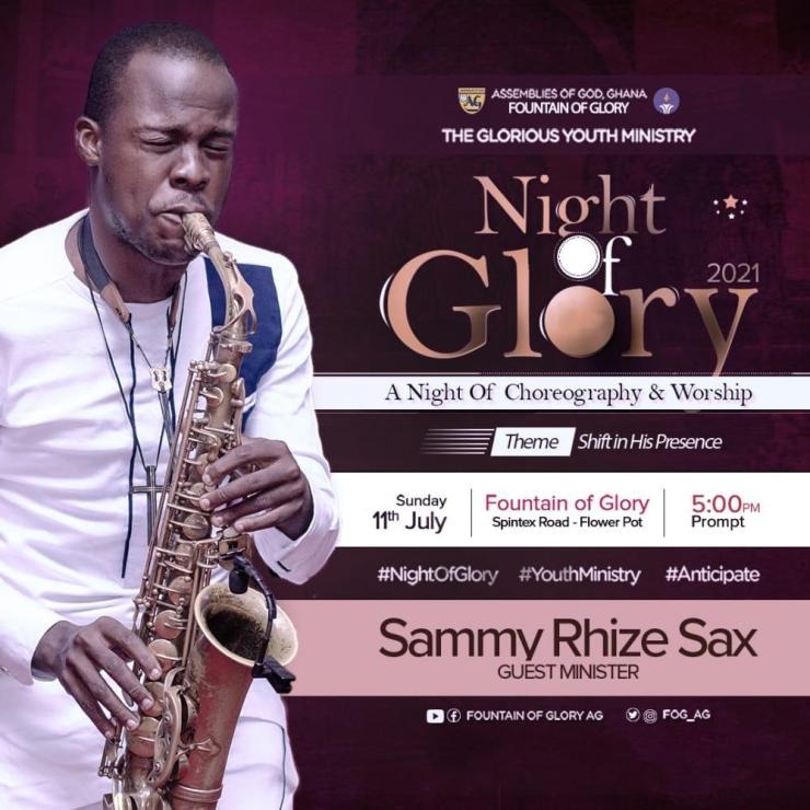 , Assemblies of God, Ghana Fountain of Glory Glorious Youth Ministry presents Night of Glory, Choreography & Worship, Frederick Nuetei