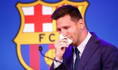 , A tearful Lionel Messi has confirmed he is leaving FC Barcelona, saying he was 'convinced' he would stay at the club, Frederick Nuetei