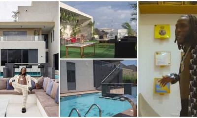 , Many in awe as they get rare glimpse of Burna Boy's Luxury Lagos masion in a 2-minutes house tour clip, Frederick Nuetei