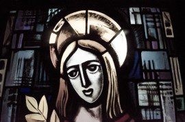 Agnus Dei glas in lood raam