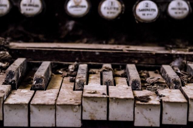 The pigeon church orgel close