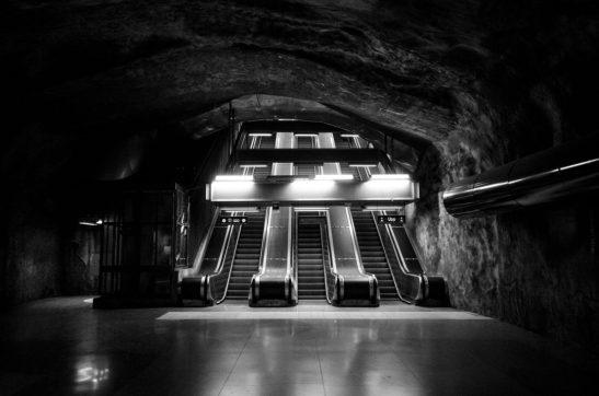 Kunstradgarden subway abandoned - Stockholm, Sweden