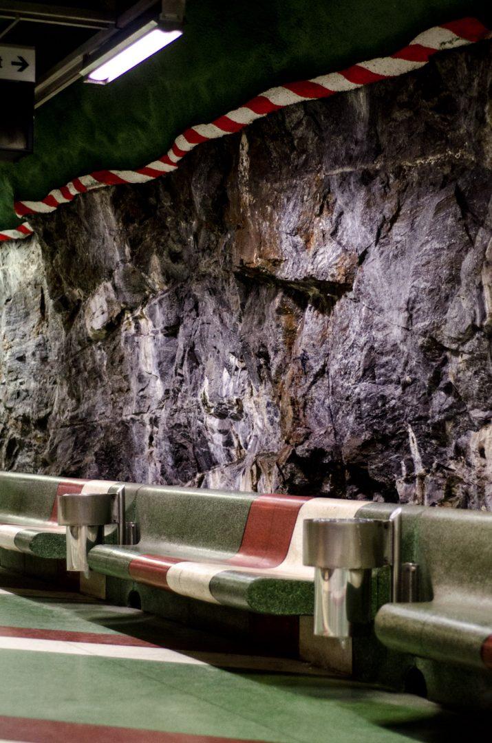 Kunstradgarden subway benches - Stockholm, Sweden