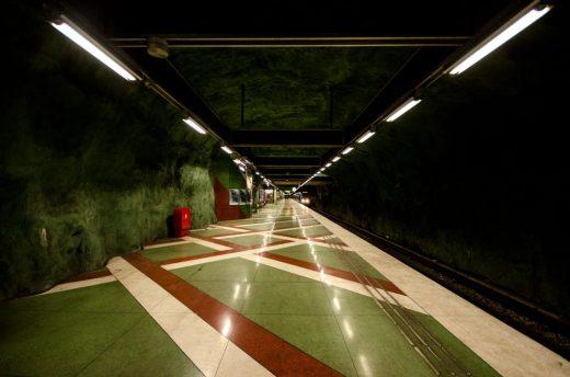 Kunstradgarden subway track - Stockholm, Sweden