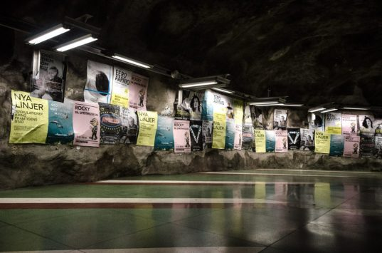 Kunstradgarden subway walls - Stockholm, Sweden