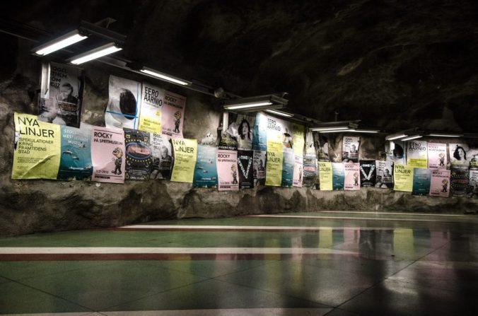 Kunstradgarden subway walls - Stockholm, Sweden