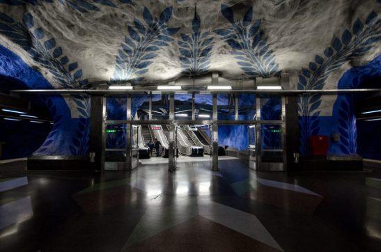 Subway entrance - Stockholm, Sweden
