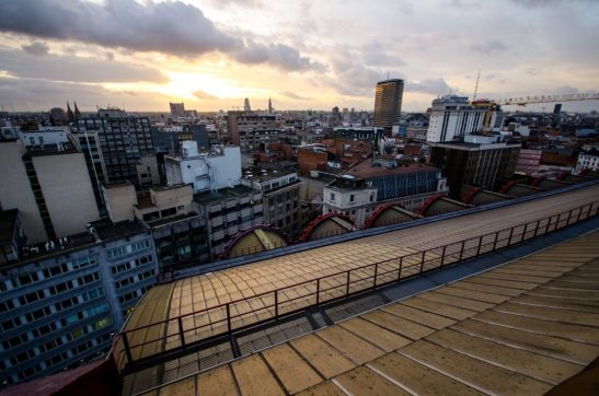 Sunset from the roof - Antwerp Central Station