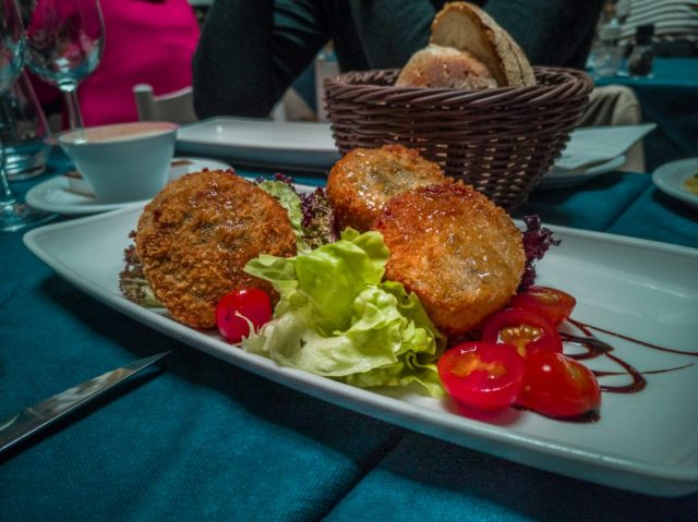 Fried goat cheese in Valetta, Malta