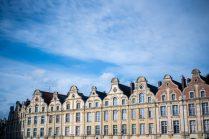 Houses on place des heros Arras