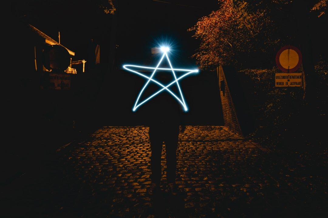 star light painting in photography