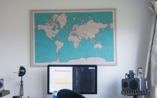 The world in my office with Worldmap
