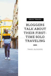 Bloggers talk about their first-time solo