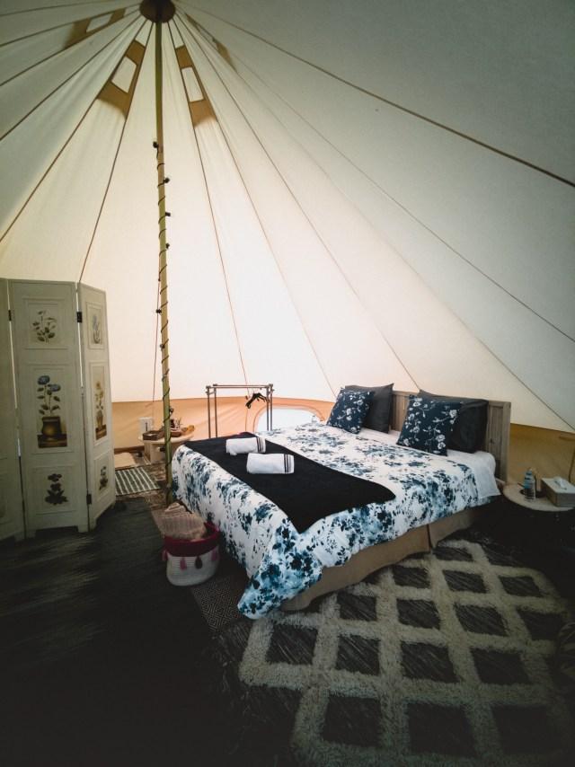 Tent in Dourbes Belgium