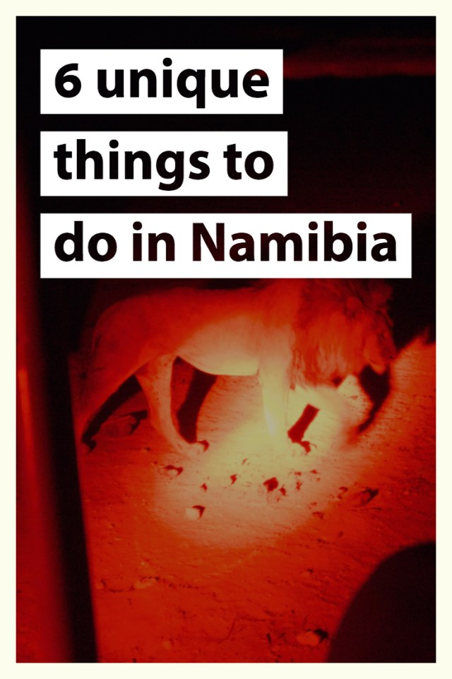 6 things to do in Namibia