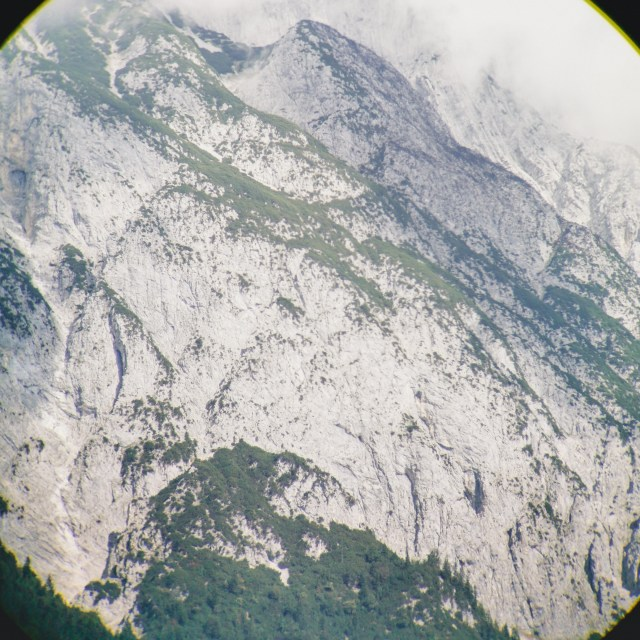 Mountainside through smartphone with optical zoom