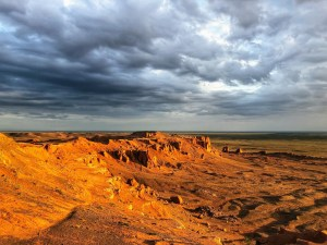 Traveling With Suncreen on their trip to the Flaming Cliffs