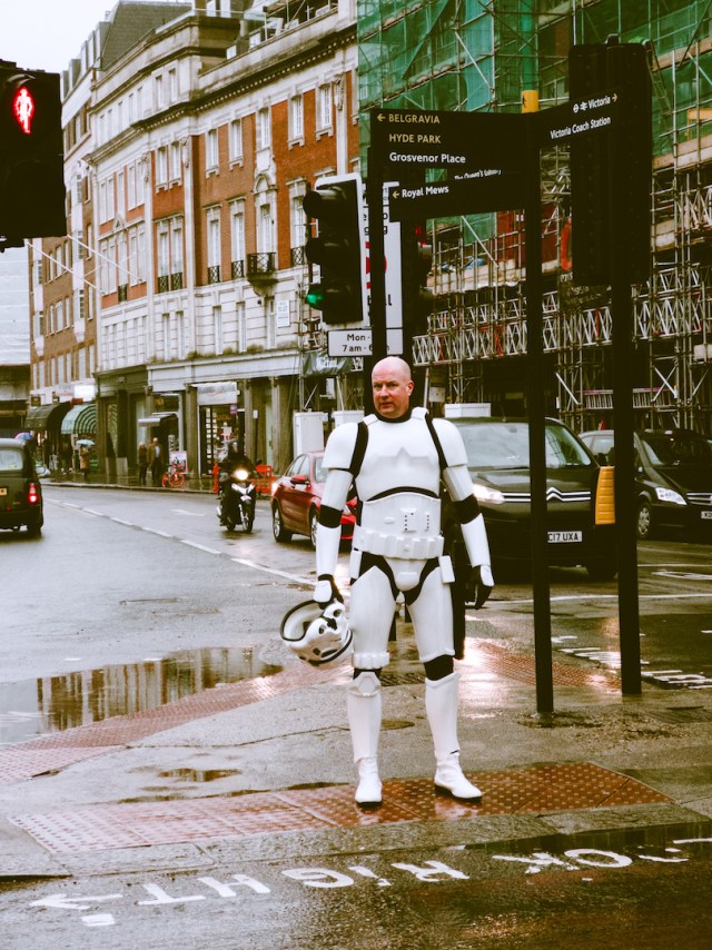 storm trooper in london