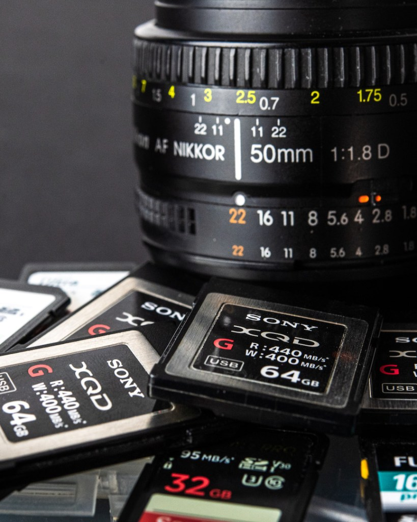 memory cards for event photography
