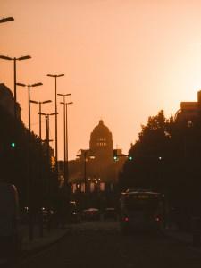 Koekelberg in Brussels during sunset