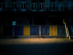 Street photography of fences in Brussels