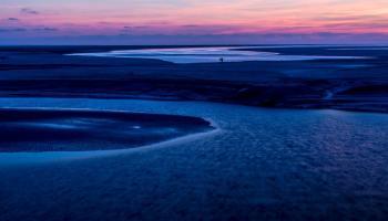 Blue hour landscape photo