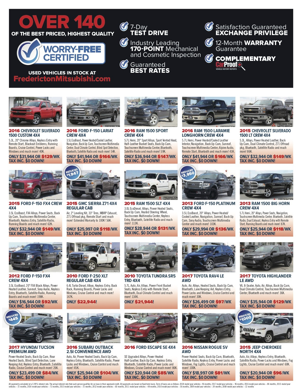 hight resolution of 2 used cars fredicton mitsubishi flyer may18