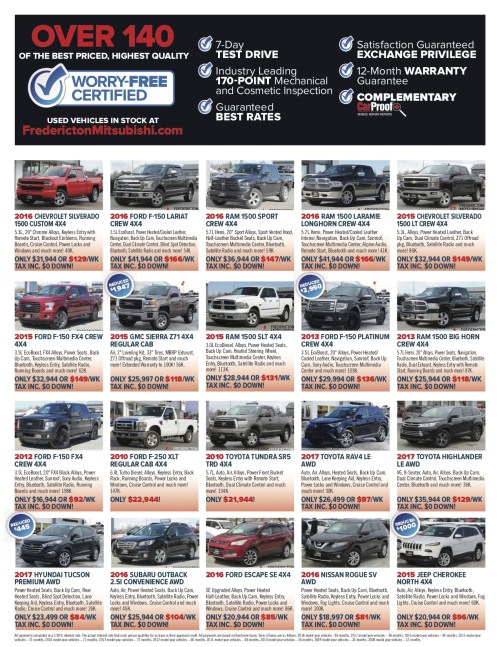small resolution of 2 used cars fredicton mitsubishi flyer may18