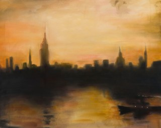 New York City 1956, mixed media on canvas, 88x113cm 2017