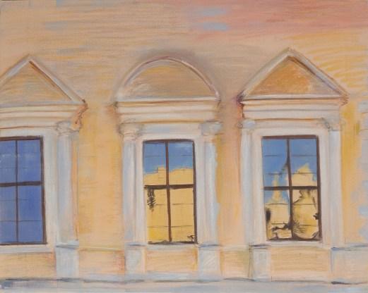 Palazzo Farnese 2010, mixed media on cavas 94x74cm