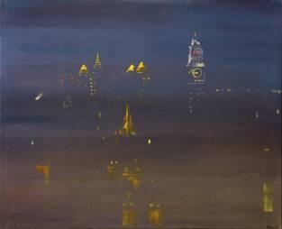 New York 1997, mixed media on canvas, 92x112cm